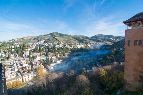 Obraz na plátně Granada vista dal parco dell'alhambra