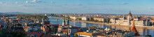 Panoramic View Of Budapest, City Embankment, Reflection Of Buildings In The Water, Cityscape