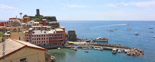 Fotografie, Obraz Vernazza Italy is a very colorful town that hangs on the mountainside with my vineyards and is one of five towns that make up the cinque terre region