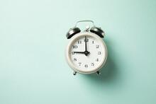 The White  Vintage Alarm Clock