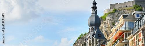 Panoramic view from the embankment of Dinant, Belgium Fototapet