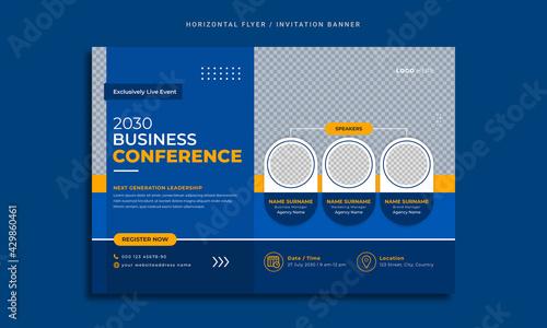 Canvastavla Conference flyer and invitation banner template design