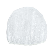 Transparent Shower Cap On White Background, Top View