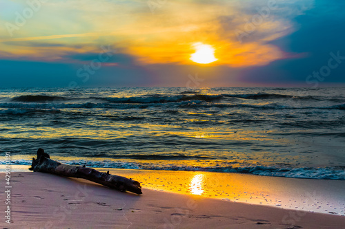 zachód słońca Poddąbie Bałtyk Polska