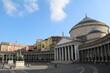 Basilica Reale Pontificia San Francesco da Paola at Piazza del Plebiscito in Naples, Italy