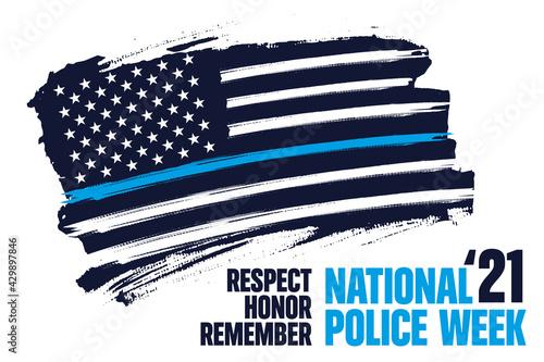 Vászonkép National Police Week banner vector template