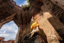 Old Temple Architecture, Wat Nakhon Luang At Ayutthaya
