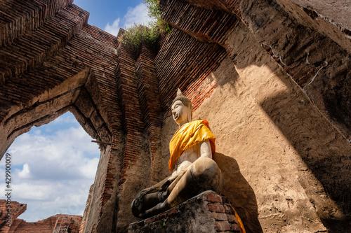 Canvas-taulu Old Temple Architecture, Wat Nakhon Luang at Ayutthaya