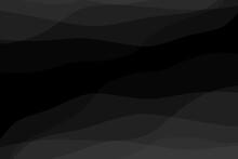 Gray Gradient Wave Curve Black Background 3D Illustration