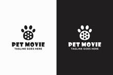 Pet Movie, Paw Movie Logo Design