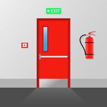Fire Emergency Exit Door Fire Exit Emergency Fire Exit Door