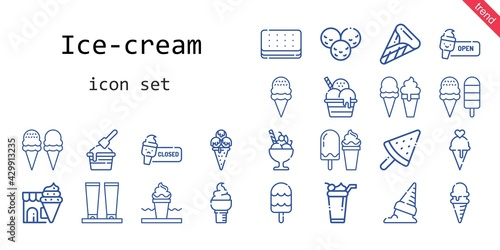 ice-cream icon set Fototapet