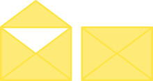Vector Open And Closed Envelopes Clip Arts. Message Icons Set Isolated On White Background. Business Design Element.