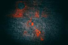 Grunge, Dark, Background, With Orange Spots. Vignette. Backgrounds.