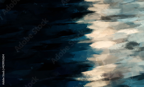 Fotografie, Obraz Digital illustration Oil painting fine art abstract background page texture