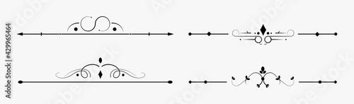 Fotografija Page dividers vector set