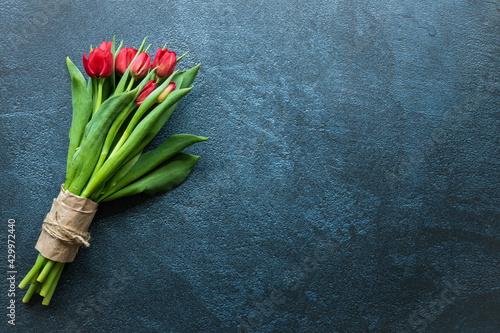 Foto Bouquet de tulipes rouges