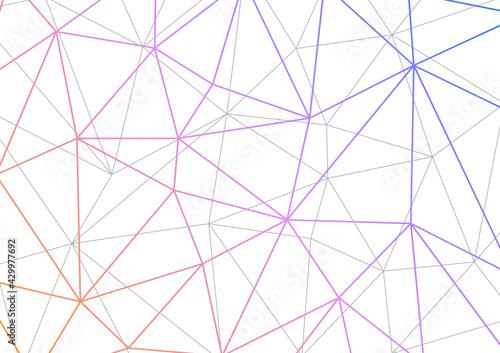 Fototapeta ネットワークやスポーツイメージの背景イラスト 幾何学模様 白地