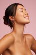 Leinwandbild Motiv Attractive woman with glowing skin