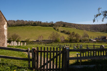 Walk On The South Down National Park, St Marys Church, UK, Upwaltham, West Sussex.