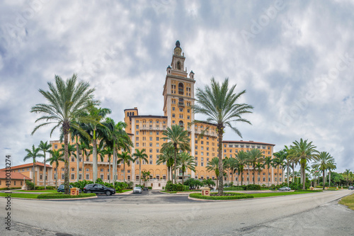 CORAL GABLES, FL - FEBRUARY 2016: Panoramic view of the Biltmore Hotel and Resort