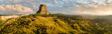 Dramatic Sunrise At Devils Tower National Monument - Wyoming