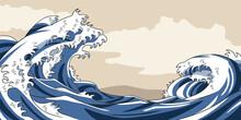 海 和風 和紙風背景