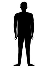 Guy Standing Cartoon Character - Vector