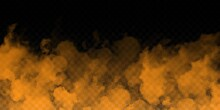 Vector Realistic Isolated Orange Smoke Effect For Decoration And Covering On The Transparent Background.