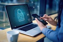 CYBER SECURITY Business  Technology Antivirus Alert Protection Security And Cyber Security Firewall Cybersecurity And Information Technology