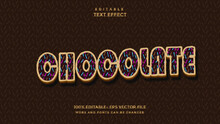Chocolate Style Text Effect
