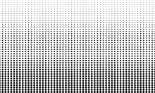 Seamless Background Pattern From Geometric Shapes. The Pattern Is Evenly Filled With Black Circles.  Vector Design