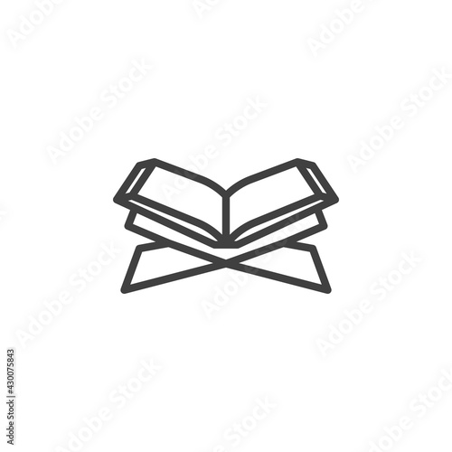 Fotografie, Obraz Holy Quran book line icon