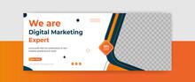 Digital Marketing Webinar Facebook Cover Banner Template Social Media Post