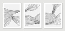 Luxury  Line Art Background Vector. Minimalist Modern Contour Drawing. Contemporary Abstract Art Design For Wall Art, Wallpaper, Home Decoration, Cover, Printable Painting.