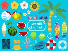 夏のアイコン・イラストセット