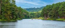 Beautiful Scenery Of Pang Oung Lake, Mae Hong Son, Thailand. Travel, Trip And Vacation Concept