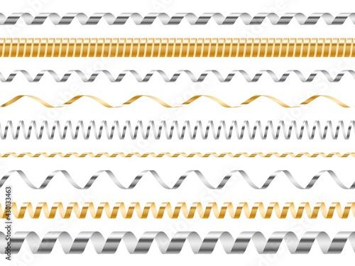 Fotografia, Obraz Curled seamless ribbons