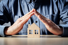 Protect Your House Insurance, Security And Home Protection Concept