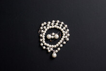 Pearl Necklace Black Background