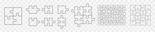 Various Sizes Puzzle. Vector Illustration Icon