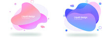 Abstract Pink And Blue Free Form Shapes Color Gradient