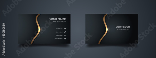 Obraz na plátně Luxury business card design template