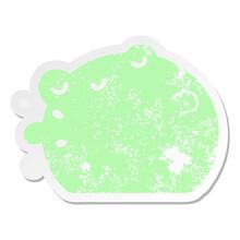 Frog Grunge Sticker