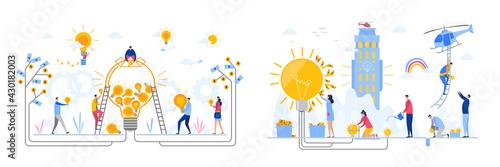 Fotografia Concepts Set of Business Idea, flat design vector illustration
