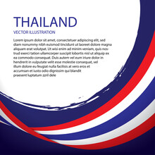 Vector Flag Of Thailand Banner Design 0
