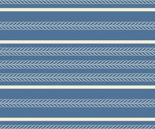 Light Decorative Stripes On A Blue Background. Seamless Patterns.