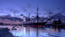 Autumn Sunset On HMS WARRIOR 1860