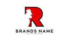 Letter R For Rooster Illustration Vector Logo