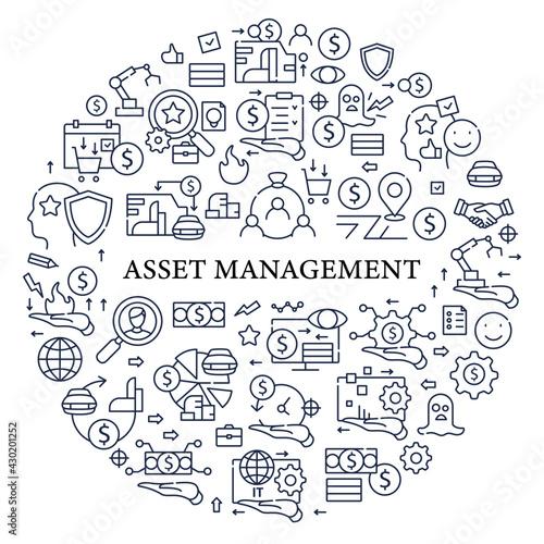 Photo Asset management circle poster